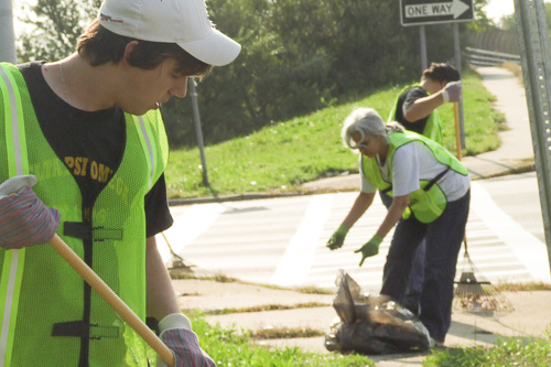 Spend a Saturday cleaning up a section of your local highway