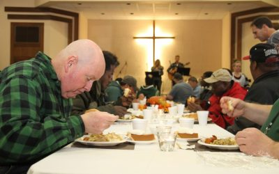 Serve breakfast at a homeless shelter