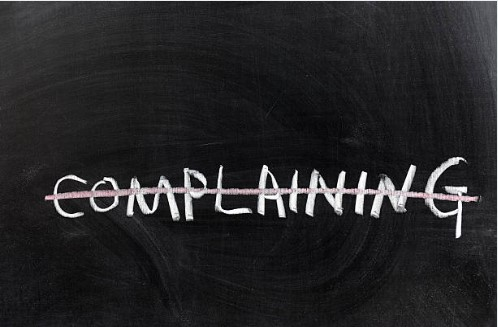 Make today a complaint-free day