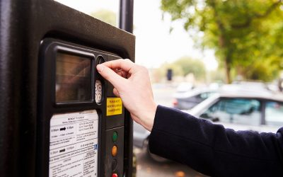 Put coins in someone's parking meter