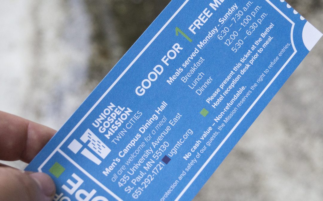 Print out a Ticket of Hope from Union Gospel Mission