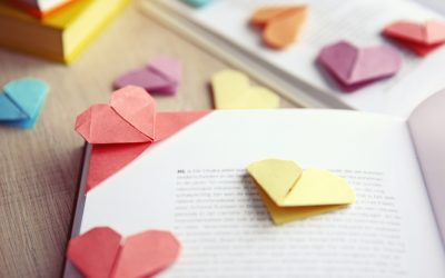 Leave a note or homemade bookmark in a library book to cheer someone up