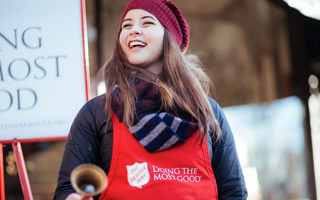 Give money to the Salvation Army bell ringers