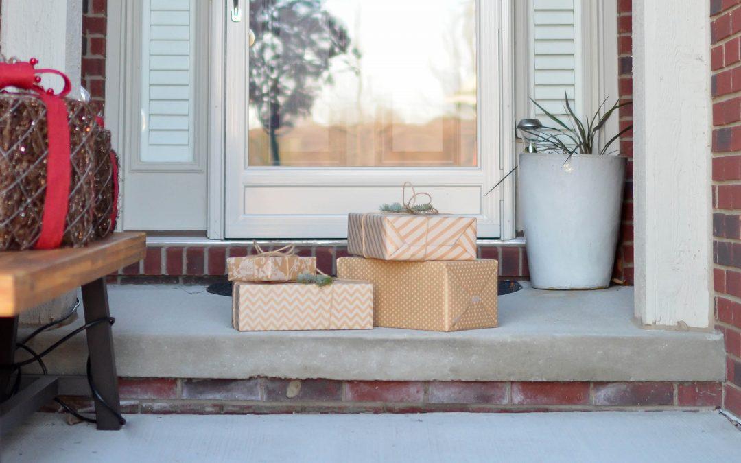 Leave a secret Santa gift on your neighbor's doorstep